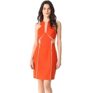 Three Floor Sheer Tease Dress in Orange